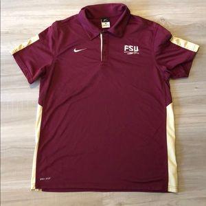 Florida State Nike Dri Fit Polo Medium